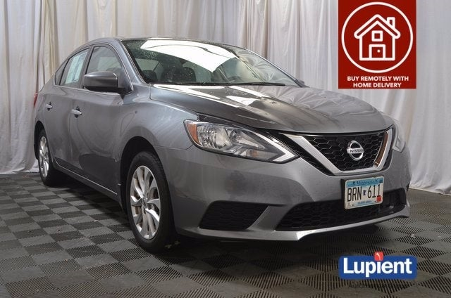 Used 2018 Nissan Sentra SV with VIN 3N1AB7AP8JY258702 for sale in Brooklyn Park, Minnesota
